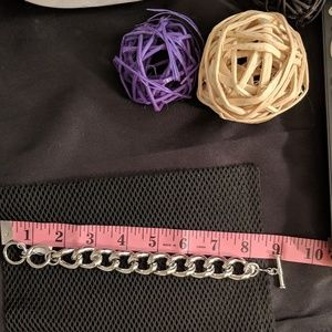 Lia Sophia Jewelry -  Lia Sophia Chunky Silver Toggle Bracelet NIB